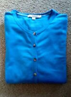 Ladies Blue Boden Knitted Cardigan Size L