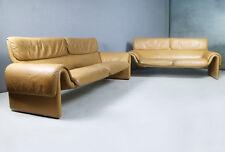 COPPIA di ANNI 1980 metà del secolo moderno Swiss in pelle divani by DE SEDE