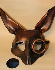 Lo Steampunk Rame Coniglio Bunny Maschera Veneziana Ballo in Maschera in pelle fatto a mano
