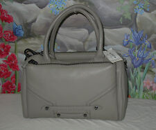 New $448 BOTKIER Gray Leather 'Mercer' Satchel Handbag Convertible Shoulder Bag