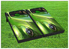 VINYL WRAPS Cornhole Boards DECALS Old Green Car Bag Toss Game Stickers 774