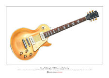 Henry McCullough's Gibson Goldtop guitar Limited Edition Fine Art Print A3 size