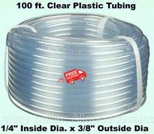 Clear Plastic Tubing 100 Roll 14 Inside Dia X 38 Outside Dia Flexible