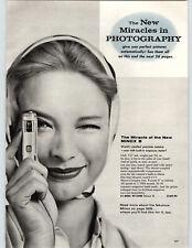 1960 PAPER AD 4 PG New Model Minox B Smallest Camera Mini Miniature Graflex 35MM