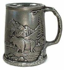 Statesmetal Wildlife Lodge Mug with Bear and Moose 16 oz Carson Homes