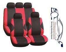 11PCE COVENTRY RED UNIVERSAL FULL SET OF SEAT COVERS FOR VW Bora Golf Polo Passa