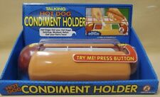 Talking Hot Dog Condiment Holder Removable Tray Closes Automatically Bug Free