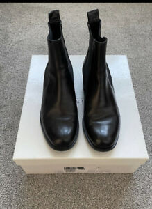 Russell & Bromley Black Leather Chelsea Boots Size 4.5