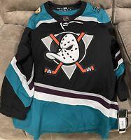 BRAND NEW Adidas NHL Jersey Anaheim Ducks Silver Season 25th Anniversary Size 54