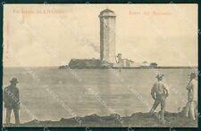 Livorno Città Torre del Marzocco PIEGA RIFILATA cartolina KF2133