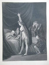 Orginal c1880 Antiquarian Engraving - The Death of Cardinal Beaufort, Winchester