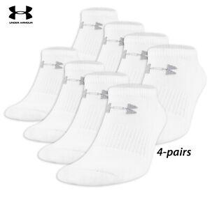 UA Socks: 4-PAIR All Season Performance No Show IRREG (L)- White