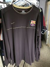 Nike XXL L/S FC Barcelona Training Shirt Jersey Maillot Kit Excellent Condition
