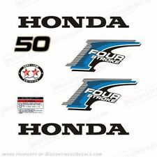 Honda 50hp 4-Stroke Outboard Decal Kit 2002-2007 - Reproduction Decals in Stock!