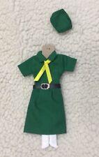 Handmade cute green girl guide dress set 8  for barbie/silkstone/OOAK @LAST@