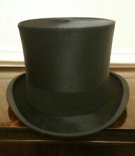 Nuovo di zecca RARE Lincoln Bennett Vintage Silk Top Hat Nero Taglia UK 7 1/8 + o EU 58.3cm