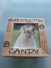Bamboo Pet Memorial Photo Cube - Hardest Goodbye - Cat Dog
