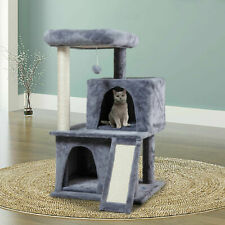 New listing 34'' Cat Tree Condo Climbing Tower Scratching Kitty Multi Level Cat House Tower