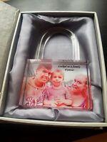 Personalised Lock Photo Crystal - Couples, Wedding, Kids, Love <3