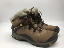 Merrell Womens Thermo Arc 6 Winter Boots Brown Lace Up Ankle Waterproof Snow 8.5