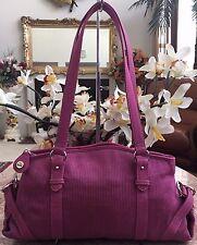 New The Sak Medium Pink Canvas Satchel Shoulder Handbag Purse