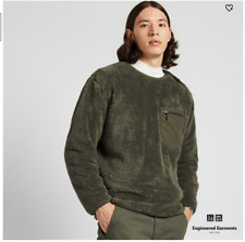 Uniqlo X Engineered Garments Fleece Pullover Size Medium Sold Out Limited Olive
