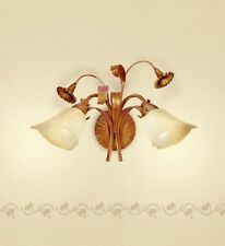 Applique classico 2 luci in metallo avorio rosato coll. Dese 3860-2A