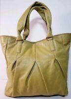 Cole Haan Hazelle ll Light Green Lether Tote Bag Handbag B 38137