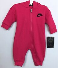 New Nike Infant Baby Girl's One Piece Outfit Coverall  Rush Pink Size  3 Months