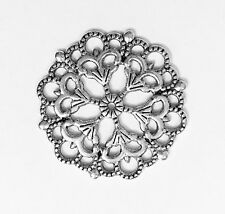 Bulk 100 alloy  filigree connector , alloy pendant 29mm  available  5 colors