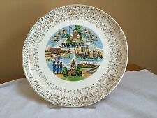 Vintage Early 1980's Maryland State Souvenir Collector Plate