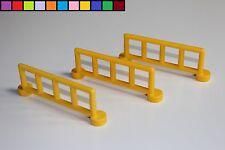 Lego Duplo - 3x Zaun Zäune - Geländer Gatter Absperrung - gelb - Baustelle