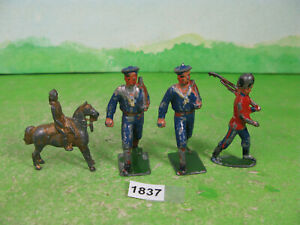 vintage mixed lead soldiers small gilt mounted penny toy collectable models 1837
