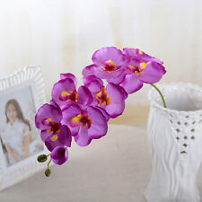 Fake Orchid Silk Flowers Wedding Party Home Decor Artificial Phalaenopsis Hot