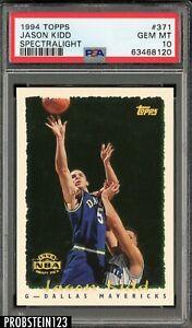 1994-95 Topps Spectralight #371 Jason Kidd Mavericks RC Rookie PSA 10