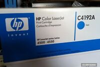 Original HP Toner für Color LaserJet  4500, 4550 Cyan, 6000 Seiten, C4192A