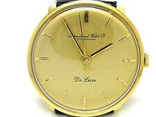 IWC Schaffhausen De Luxe Vintage Mechanical Winder Movement Gold 18k.Men Watch