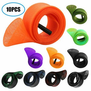 Expandable Neoprene Fishing Pole Sleeve Cover Glove Tip Protector Cap Bag Sock Blue Rehomy Fishing Rod Tip Cover Rod Strap Set