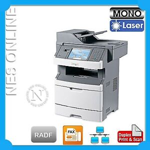 Lexmark X466de 4-in-1Mono Laser Printer+Duplexer+Touch Screen+RADF Scan 13C1224