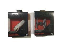 Star Wars Black Series Titanium First Order Tie Fighter and Transporter