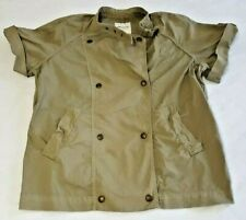 Madewell Army Green Jacket Coat Womens XS Double Breasted Short Sleeve