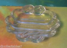 Glass SAFE-X safex 1950s retro ASHTRAY Mid-Century Clear Glass