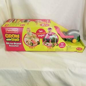Fisher-Price Grow With Me Sit-To-Stand Scooter Pink BNIB 1 1/2-5Years