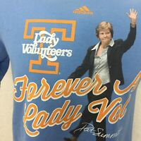 Forever Lady Volunteers Pat Summitt Adidas Shirt Sz M Tennessee Basketball