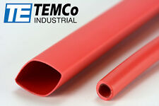 "Temco 1/2"" Marine Heat Shrink Tube 3:1 Adhesive Glue Lined 4 ft Red"