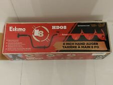 """8"""" Eskimo Adjustable Length Hd08 Hand Ice Auger with Dual Flat Blades"""