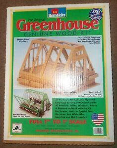 NEW NIB HOMEKITS Greenleaf Wood Miniature Greenhouse DOLLHOUSE KIT USA 15x14x10""