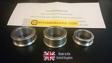 Suzuki GSXR 600 & 750  2006 -10 Captive wheel spacers. Full set. Silver.