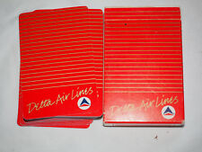 Vintage DELTA AIRLINES PLAYING CARDS Standard size in original box