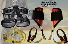 Tree Climbing Spike Set,Aluminum Pole Spurs Climbers With Pro Harness New